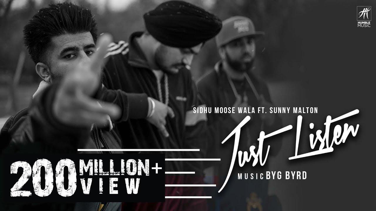 Just Listen | Official Music Video | Sidhu Moose Wala ft  Sunny Malton |  BYG BYRD | Humble Music