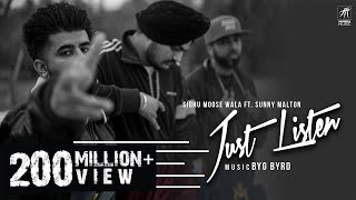 Just Listen Official Music Audio Sidhu Moose Wala Ft Sunny Malton Byg Byrd Humble Music