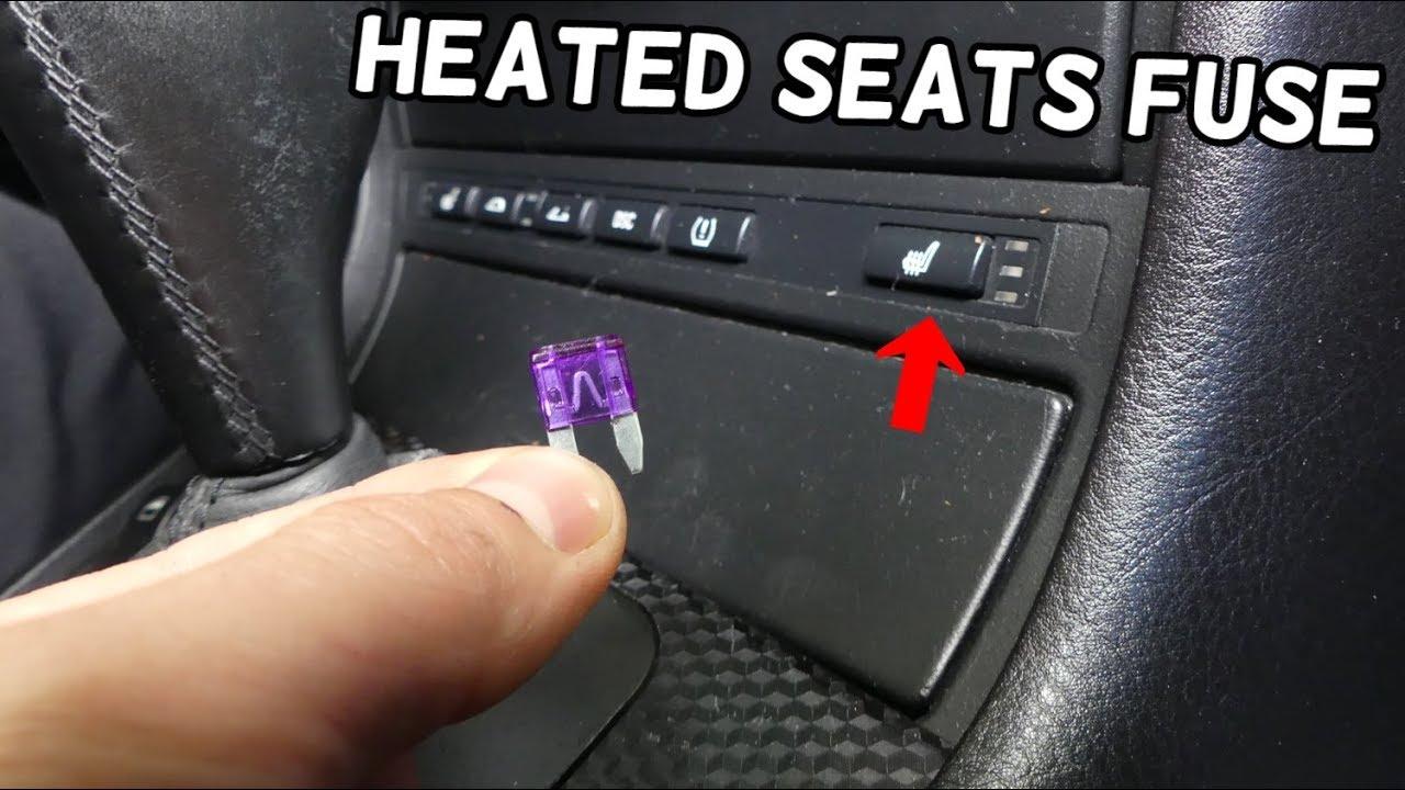 Heated Seats Fuse Location Replacement Bmw E46 325i 330i 328i 323i 320i 320d 318d 318i 316i 330d Youtube
