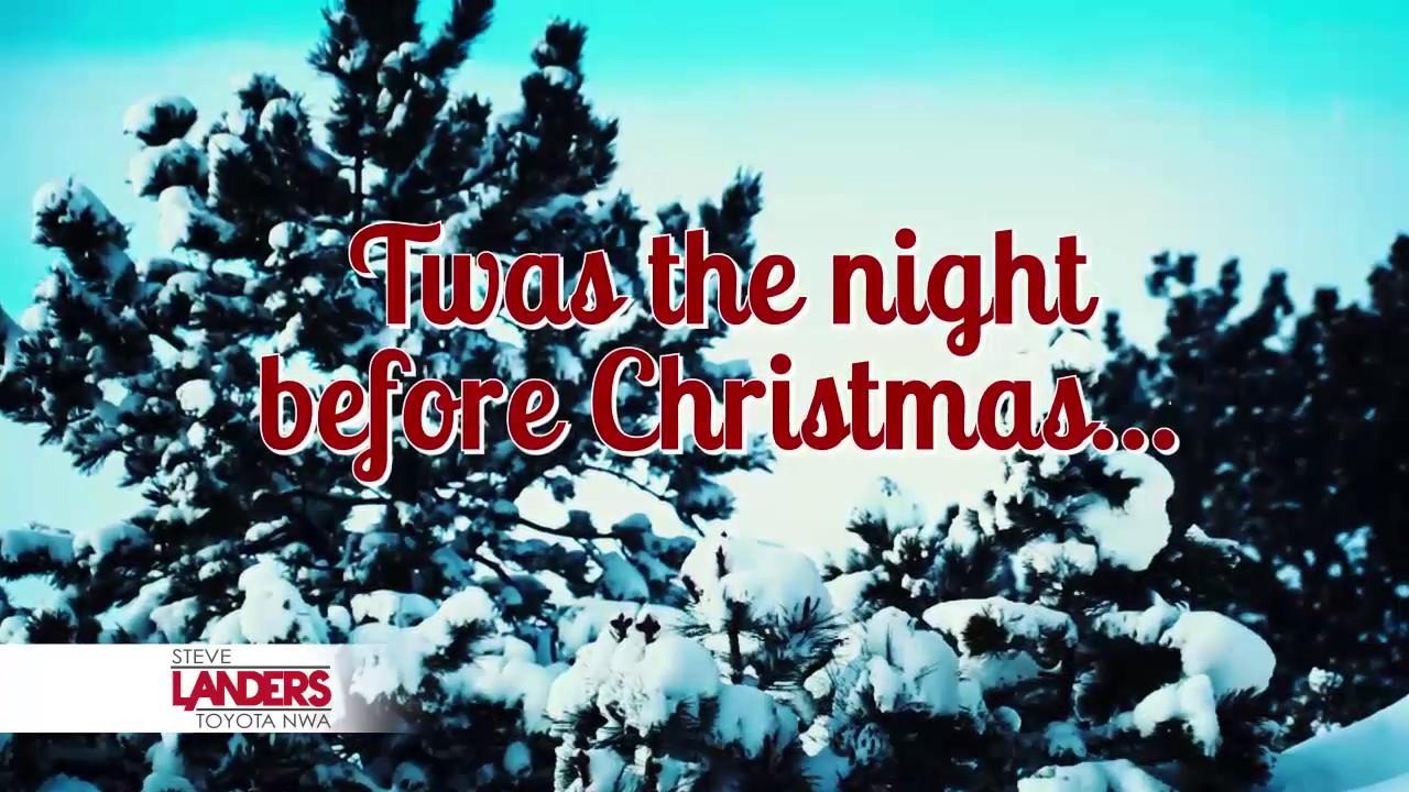 The Night Before Christmas | Steve Landers Toyota NWA - YouTube