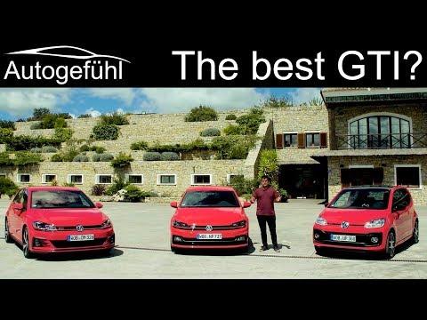 VW Golf GTI vs Polo GTI vs up! GTI comparison REVIEW Volkswagen GTI - Autogefühl