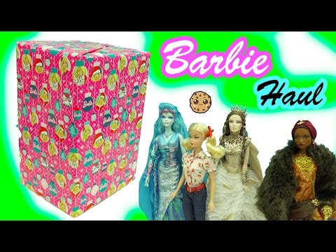 Giant Box of Fantasy Gold Label Collector Barbie Dolls Haul Video - Cookieswirlc
