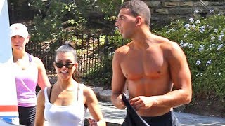 Kourtney Kardashian And Boyfriend Younes Bendjima Looking HOT Hiking In Hollywood