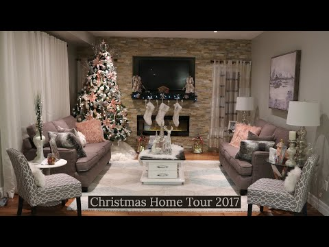 Christmas Home Tour 2017/ Pink Christmas Home Tour/ Rustic Glam & Blush Pink Christmas
