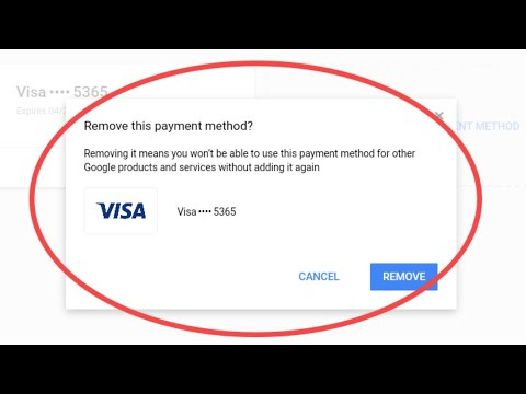 Deleting Credit Card From Google Play