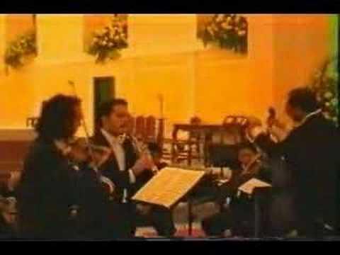 Carlos Damas Play Bach Concerto for violin and Oboe