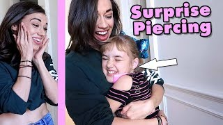 Surprising Colleen Ballinger with NEW PIERCED EARS!
