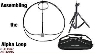100 Watt Magnetic Loop Antenna Assembly, Alpha Antenna ®