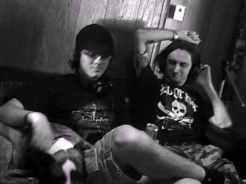 Recording Evilenko - in the control room (Belgian Underground studio)