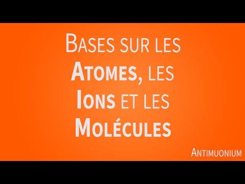 Bases sur les atomes, les ions et les molécules | Antimuonium