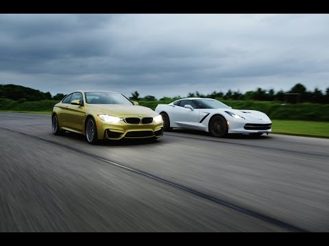 2015 BMW M4 vs. 2014 Chevrolet Corvette Stingray | AROUND THE TRACK