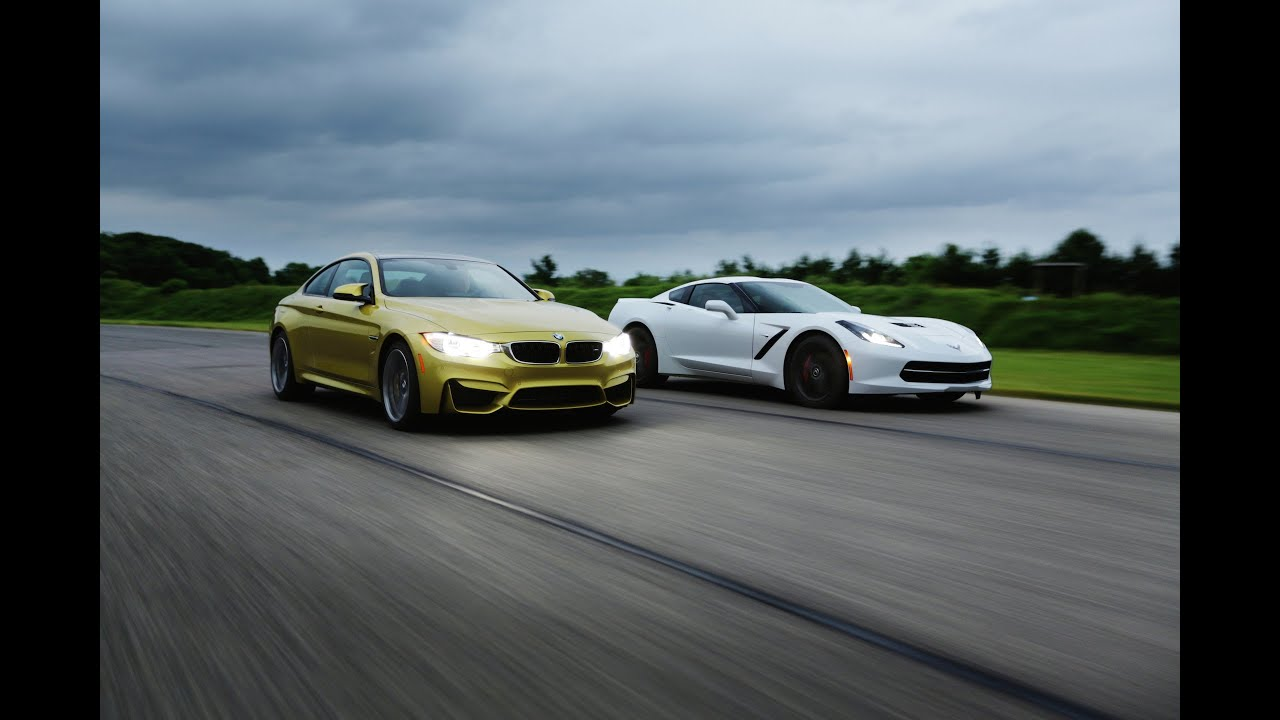 Chevrolet Corvette Stingray >> 2015 BMW M4 vs. 2014 Chevrolet Corvette Stingray | AROUND THE TRACK - YouTube