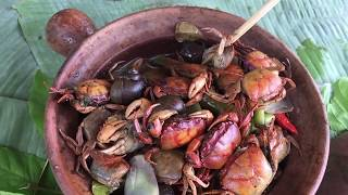 Primitive Technology - Awesome Cooking Crab Recipe - Eating delicious