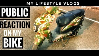 This is Amazing Public reaction on my bike /my lifestyle vlog/with aniket