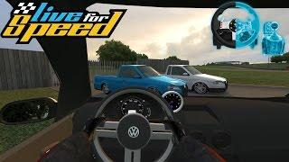 Live For Speed - RACHA DE RUA | SAVEIRO G4 Turbo - G27 + Shifter