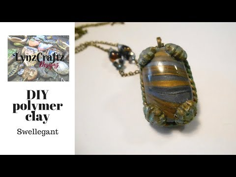 DIY Polymer Clay finishing Shell Bezel using Swellegant