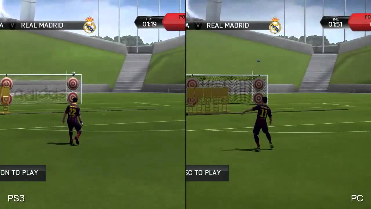 fifa 14 ps4 vs ps3 real machine screen video fifacoincom