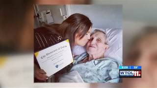 UT senior celebrates graduation with sick grandfather