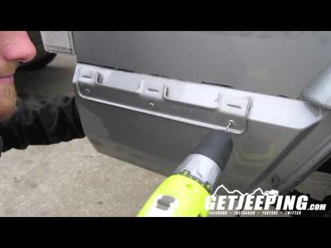 Removering rear bumper end caps mounts on 1997-2001 Jeep Cherokee XJ - GetJeeping