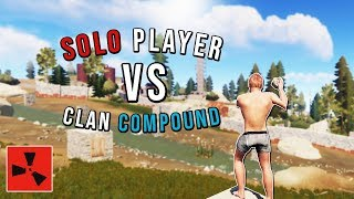 SOLO PLAYER VS BIG CLAN COMPOUND - (Rust Pvp highlights, solo Infiltration and more)
