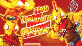 LIVE Tender Defender Giveaway NOW! | New LTM | Pro Builder | Fortnite Battle Royale | -2.1k OTW