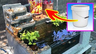 Making a filter and waterfall ! goldfish tank� Làm bộ ...