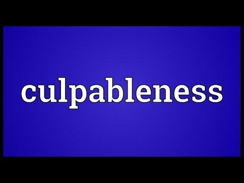 Header of culpableness