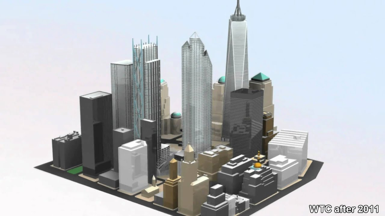 House Layout Design Old And New World Trade Center Before 2001 And After 2011