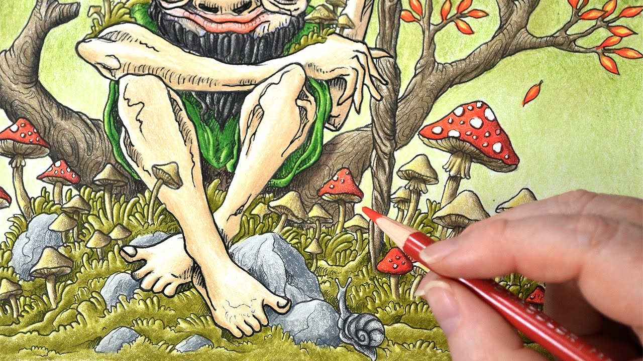 Coloring Mythomorphia with Prismacolor Colored Pencils