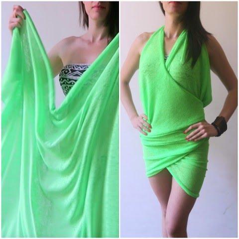 Eccezionale Come trasformare un pareo in un vestito! - YouTube OO35