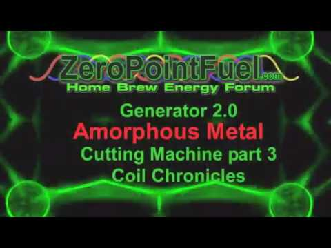 Amorphous metal cutting part 3