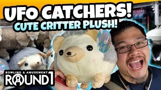 Winning HUGE Critter Plushes on Round 1 UFO Catchers! Tons of Fun at Round 1 Arcade! TeamCC