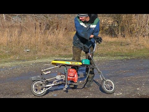 Crazy DIY Snomobile Aka Bike !