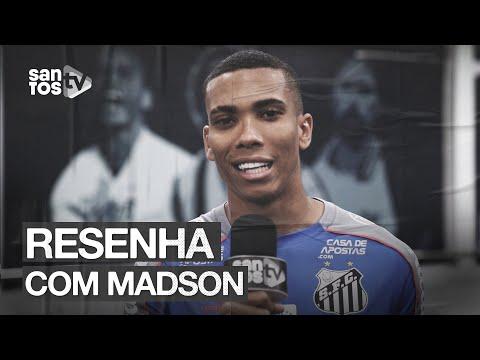 A PRIMEIRA ENTREVISTA DE MADSON COMO JOGADOR DO SANTOS