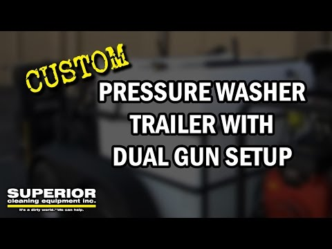 Custom Pressure Washer Trailer W/ Dual Gun Setup - Superior Cleaning Equipment