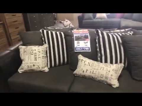 FB LIVE   Raconteur Typo 2 PC Sectional | American Freight Furniture And  Mattress