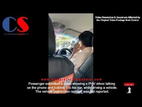 Passenger Submitted Video Showing A PHV Driver Talking On The Phone