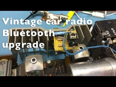 Vintage car radio Bluetooth upgrade