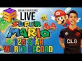 UNBELIEVABLE Super Mario 64 120 star Speedrun world record set at LIVE event by Cheese 1:38:54