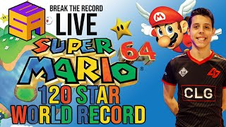 UNBELIEVABLE Super Mario 64 120 star Speedrun former world record set at LIVE event by Cheese