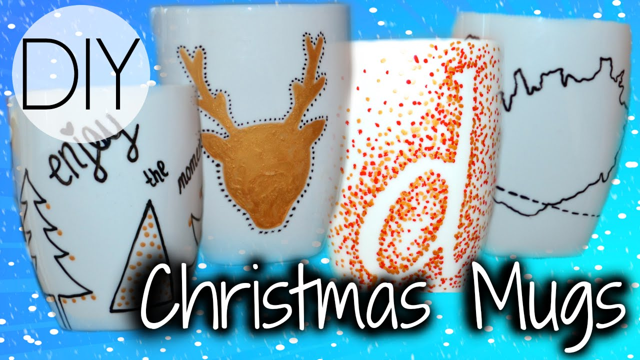 DIY Christmas Mugs/Gifts - YouTube