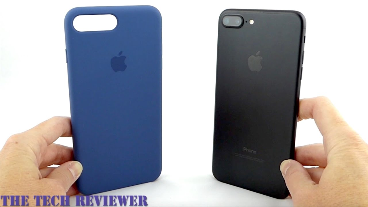 separation shoes 6a33e 9803e Apple Silicone Case in Ocean Blue for iPhone 7 Plus: Grippy, Lovely and  Super Sleek!