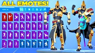 *NEW* ULTIMA KNIGHT SKIN Showcase with All Fortnite Dances & Emotes! (Season 10 Tier 100 Skin)