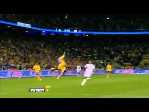 Ibrahimovic AMAZING Bicycle 30 meters! Sweden vs England