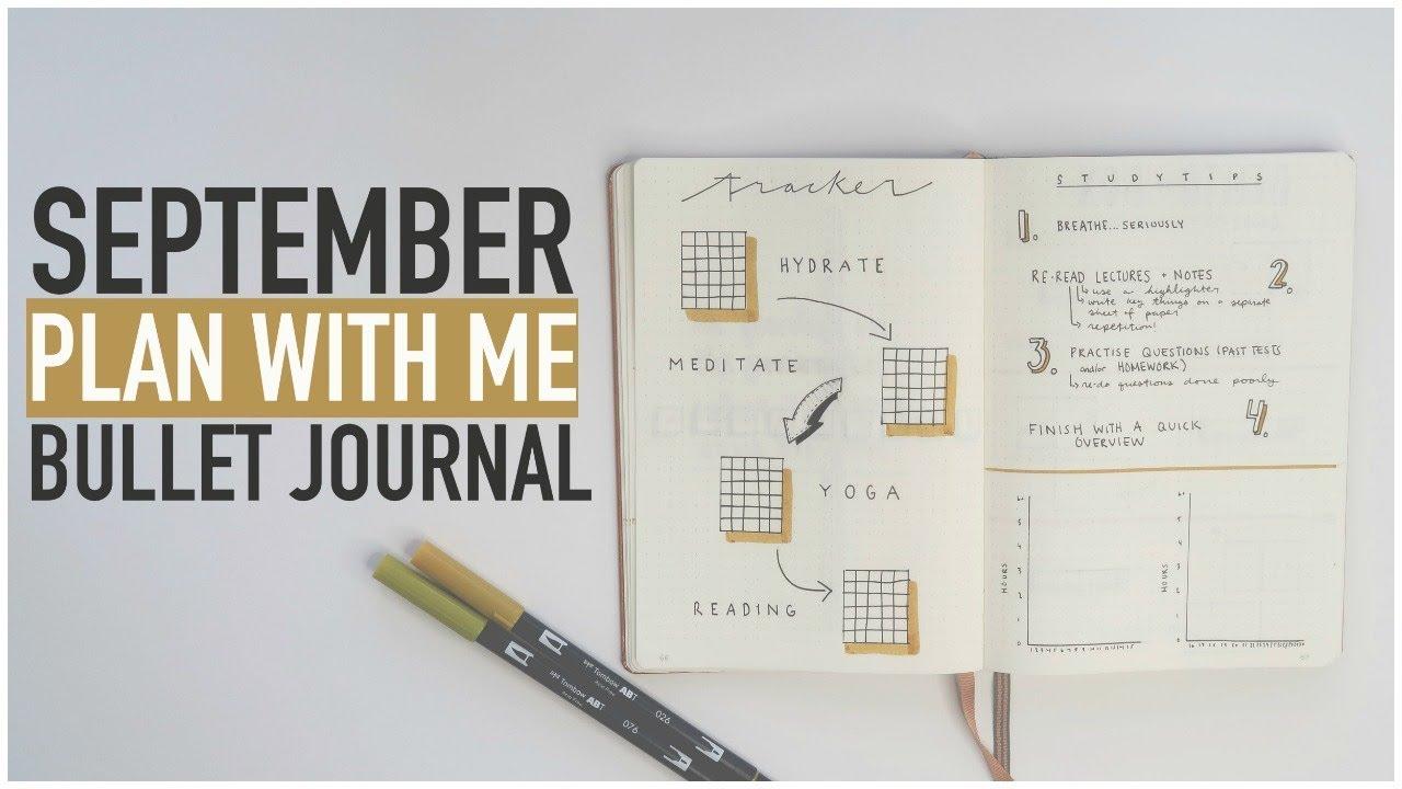 Bullet Journal PLAN WITH ME September 2017   STUDENT Back ...