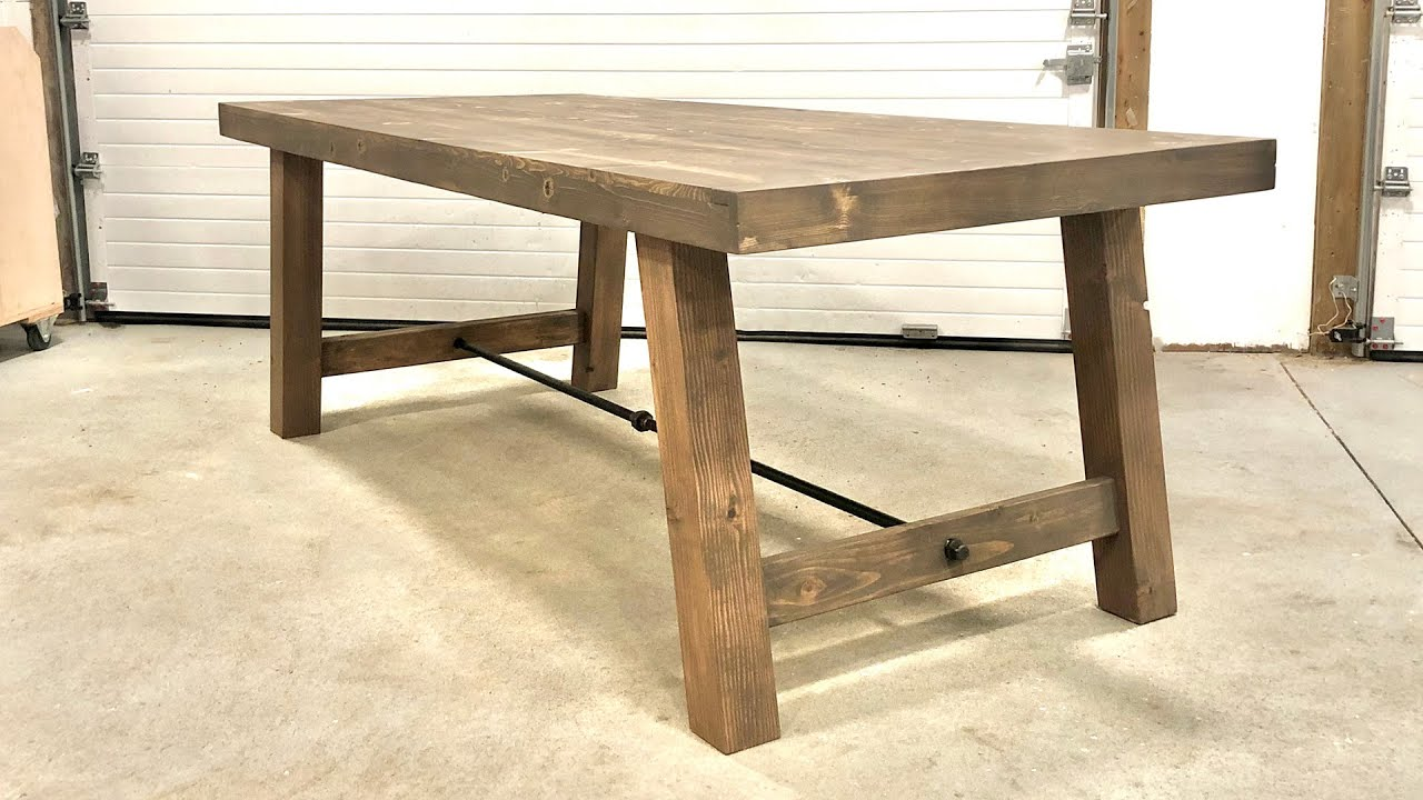 Diy Industrial Farmhouse Table Youtube