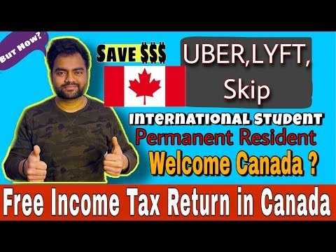 File Income Tax Return In Canada For Free, Uber Driver, International Student, PR, Live In Turbotax