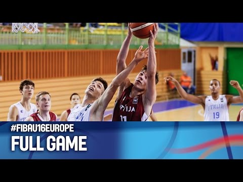 Italy v Latvia - Full Game - FIBA U16 European Championship 2016