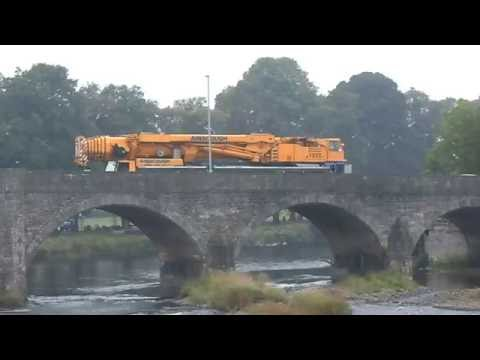 HUGE AINSCOUGH CRANE ON THE ROAD IN WALES