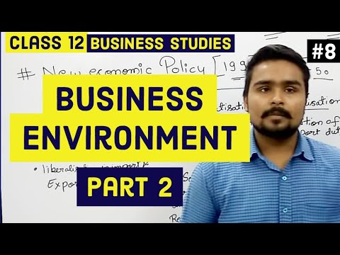 #8,Dimensions of business environment and NEP(Class 12 business)